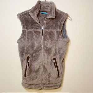Free Country | Fuzzy Brown Sherpa Vest M